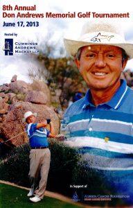 2013 Don Andrews Memorial Golf Tournament