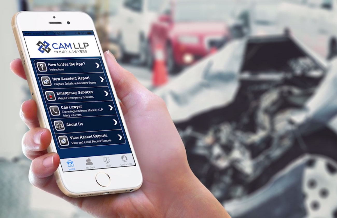 Car Accident App | Experienced Edmonton Injury Lawyers | CAM LLP