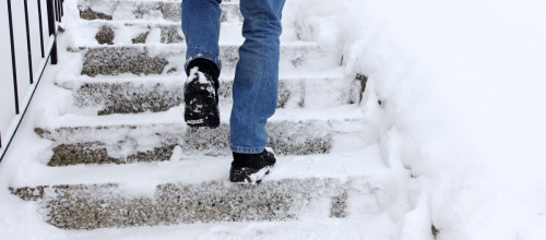 Can I recover damages for a slip and fall on an icy sidewalk?