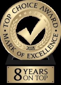 Top Choice Award 8 Years